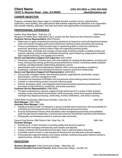 sle resume for teller manager position resume