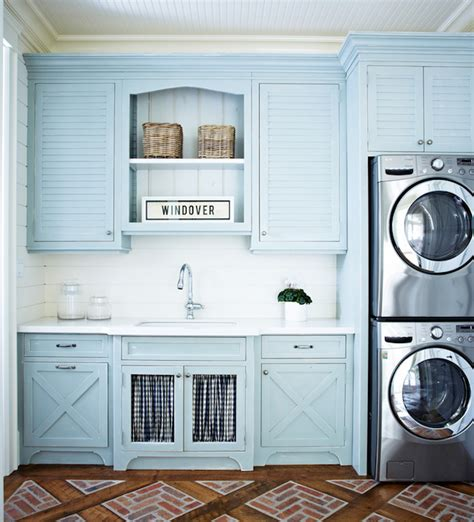 laundry room cabinets blue louvered laundry room cabinets cottage laundry room