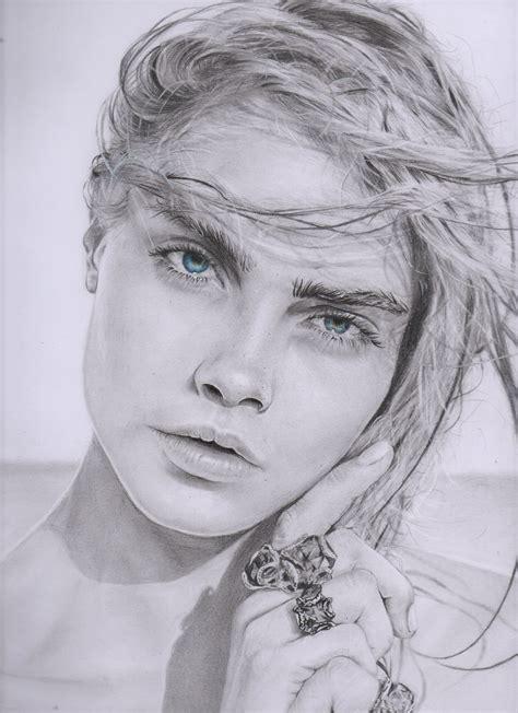Imagenes De Retratos Realistas | retratos dibujo a lapiz cara delevingne compra tu retrato