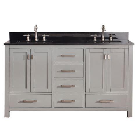 Shop Avanity Modero Chilled Gray Undermount Double Sink 61 Bathroom Vanity