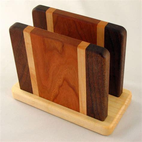 wood project napkin holder    source