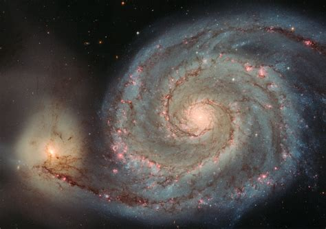 whirlpool galaxy the whirlpool galaxy m51 from hubble space telescope