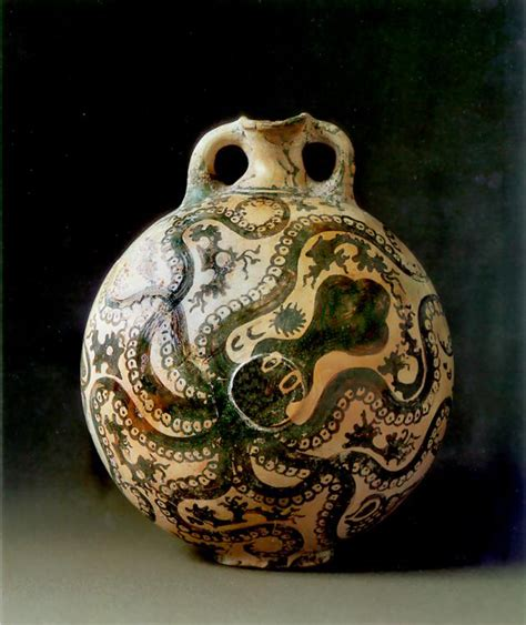 Octopus Vase by Development Of Geometric Vase Painting