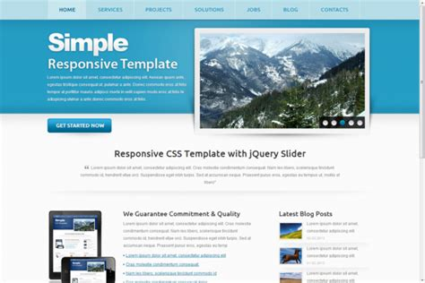 responsive templates html5 simple responsive html5 theme