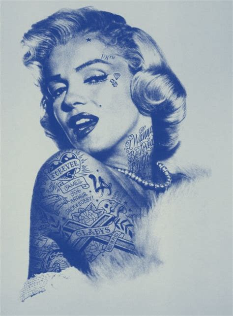 marilyn monroe with tattoos poster 15 best images about pin up on rockabilly