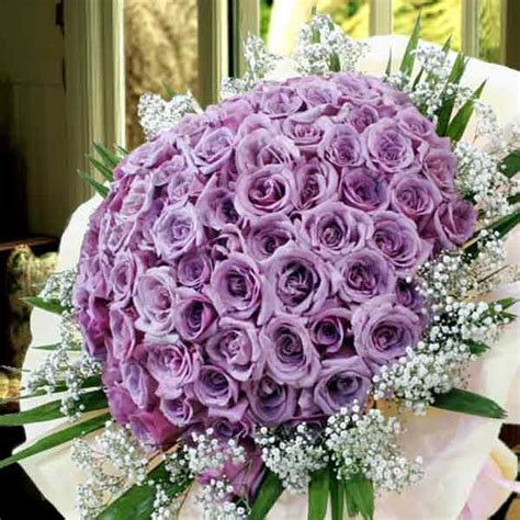Handbouquet For Special Day 99 classic purple roses handbouquet kindly order