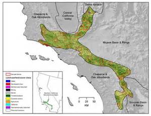 southern california mountain ranges map land cover change