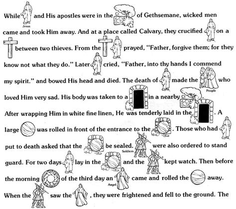 coloring pages of easter story easter story lds lesson ideas