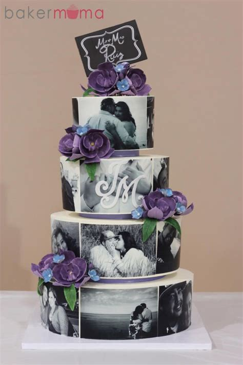Wedding Cakes With Photos On Them by All Buttercream Cake The Photos Were Printed On Edible