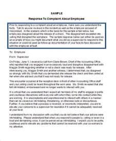 Response Letter Employee Grievance 34 Complaint Letter Templates Free Premium Templates