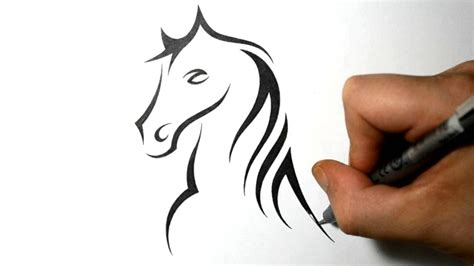 horse tribal tattoos simple tribal designs