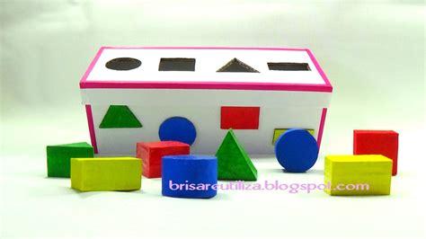 figuras geometricas hechas con material reciclable ecobrisa diy juguetes reciclados