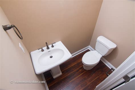 can you install laminate flooring in a bathroom installing laminate bathroom toilet and sink