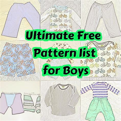 baby clothes pattern pdf tons of tree patterns for boys the ultimate free boy