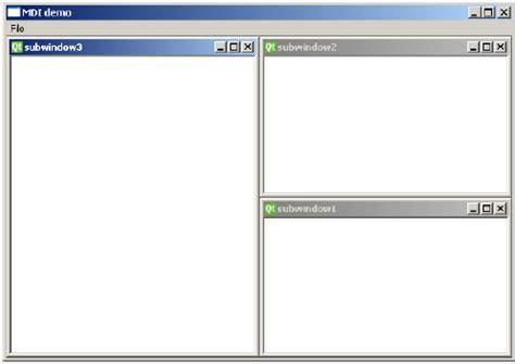 tutorialspoint qt pyqt multiple document interface
