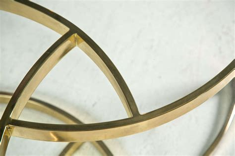 Mid Century Brass Swirl Base With Round Glass Top Coffee Swirl Glass Coffee Table