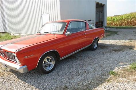 66 plymouth barracuda find used 66 plymouth barracuda in sumner illinois
