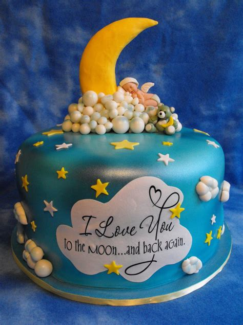 Moon And Baby Shower by You To The Moon And Back Baby Shower Cake All For