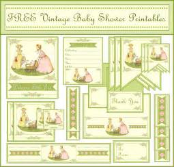 free vintage baby shower printables from printabelle catch my