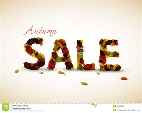 vector autumn sale poster stock  image