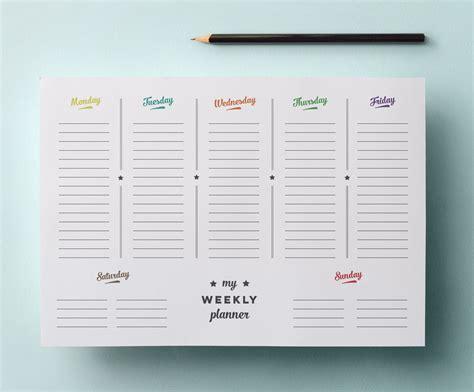 printable weekly planner retro 7 best images of planner printable printable weekly