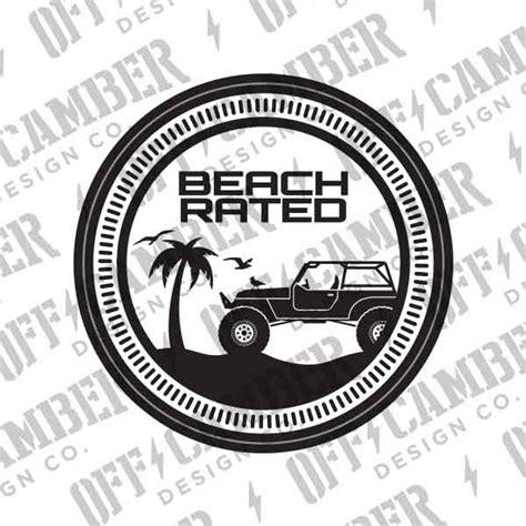 Beach Rated Badge 2 Pack Alphavinyl
