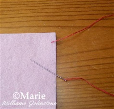 Blanket Stitch Step By Step by Craftymarie Easy How To Do Blanket Stitch Step By Step