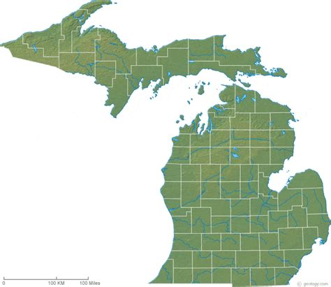 mi map map of michigan
