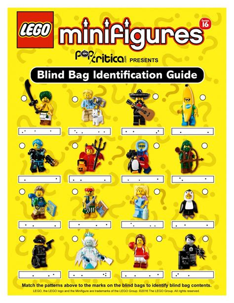 Lego Minifigures Series 12 Complete Set 16 Character identification guide to lego series 16 minifigures blind