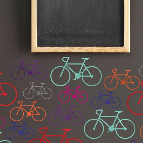 bicycle wall stickers bike wall stickers by notonthehighstreet