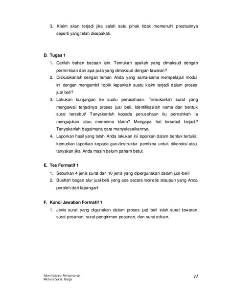 Surat Niaga Penawaran Barang by 25 D Menulis Surat Niaga