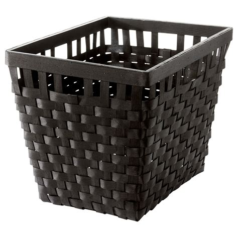 ikea baskets knarra basket black brown 38x29x30 cm ikea
