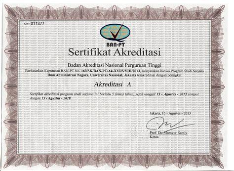 Surat Keterangan Akreditas by Akreditasi Universitas Nasional