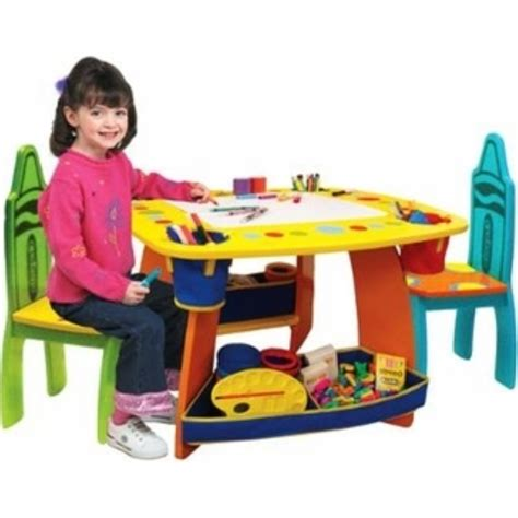 Toddler Play Table And Chairs by Crayola Wooden Table And Chairs Set Play Furniture