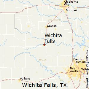 wichita falls map best places to live in wichita falls