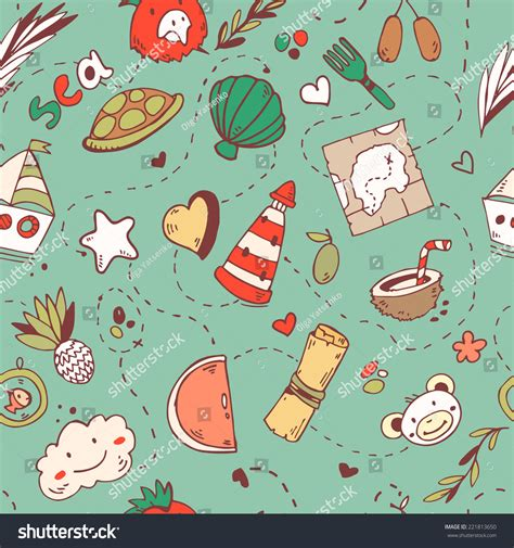 cute map pattern cute seamless cartoon pattern with pirate treasure map sea