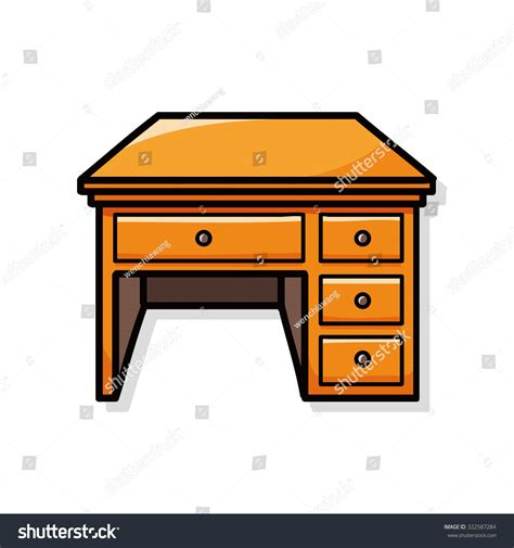 Doodle Desk by Desk Doodle Stock Vector 322587284