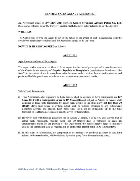 sales agency agreement template free doc 460595 agreement template free sales agency
