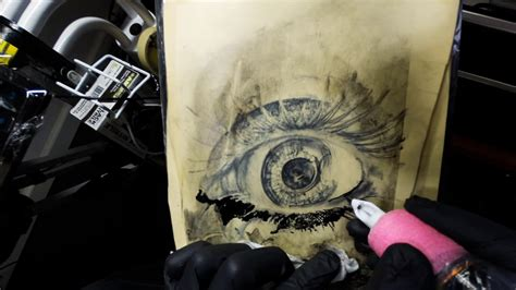 fake skin for tattooing freestyle eye on skin how to