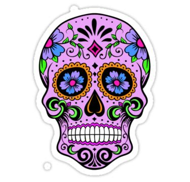Candy Wall Stickers quot colourful mexican sugar skull quot stickers by elliehopkins
