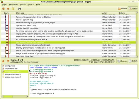 git gui tutorial ubuntu giggle a graphical frontend for the git content tracker