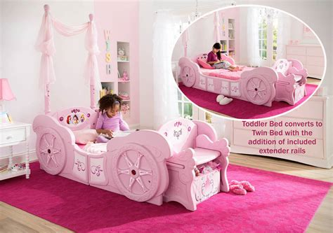 disney princess toddler bed w disney princess carriage toddler to twin conversion bed w