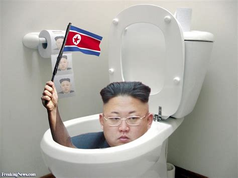 kim jong un hidging in the toilet pictures