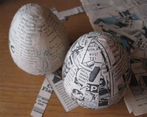 How To Make Paper Mache With Newspaper - how to make paper mache easter eggs activities for seniors