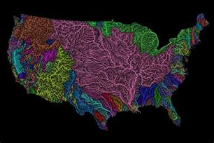 world river watershed map colorful map celebrates watersheds of the world