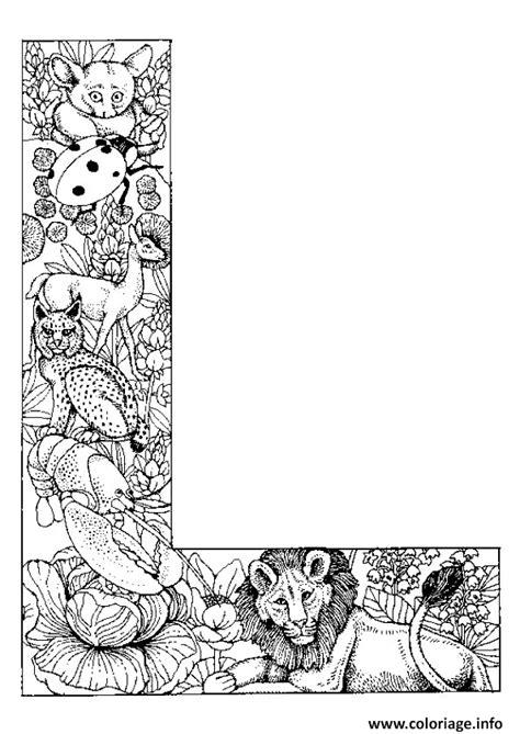 Alphabet L Coloring Pages by Coloriage Lettre L Alphabet Animaux Dessin