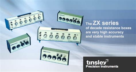 decade resistance boxes zx series tinsley resistance decades ac dc measuring instruments