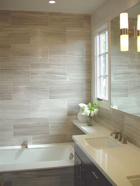 bathroom tile looks porcelain tile that looks like wood reviews bathroom contemporary with accent wall