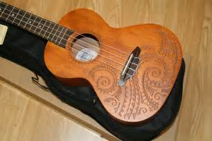 luna tenor ukulele mahogany tattoo design ebay