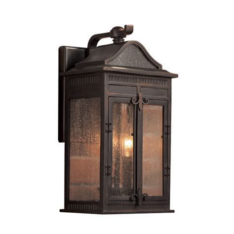 Shop Portfolio Heagan 15 5 In H Oil Rubbed Bronze Outdoor Lowes Outdoor Wall Lights